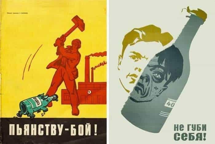 Sovyetler Birliği'nin Alkol Karşıtı Propaganda Afişleri