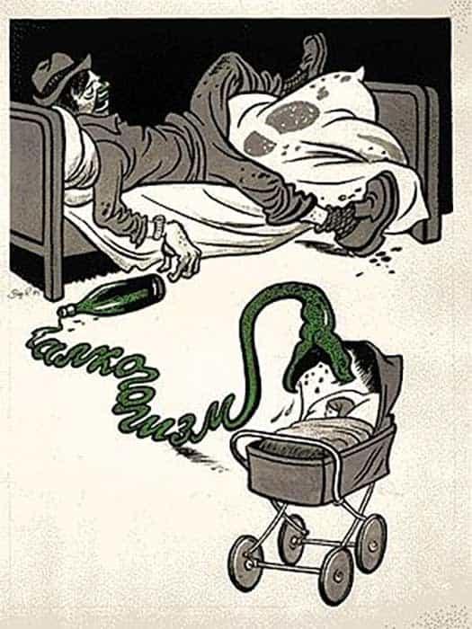 Sovyetler Birliği'nin Alkol Karşıtı Propaganda Afişleri 3