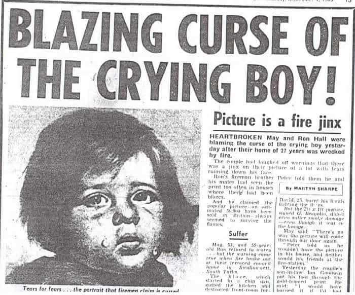 Ağlayan Çocuk Tablosunun Laneti